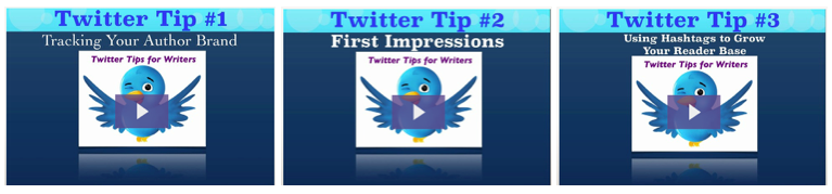 Twitter Tips for Writers videos